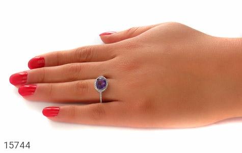 انگشتر آمتیست زیبا طرح صفوی زنانه - عکس 7