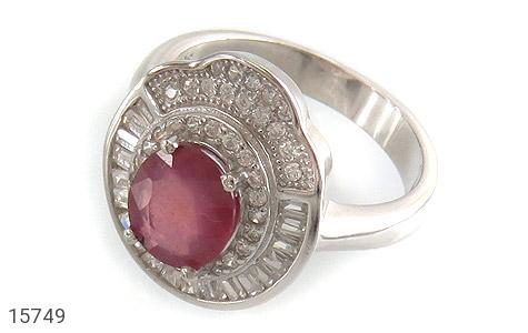 انگشتر یاقوت سرخ طرح یاسمن زنانه - عکس 1