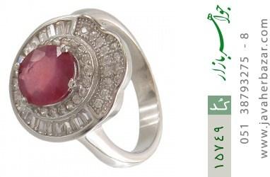 انگشتر یاقوت سرخ طرح یاسمن زنانه - کد 15749