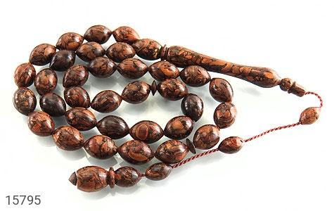 تسبیح چوب دارچین 33 دانه خوش بو و نایاب - عکس 1