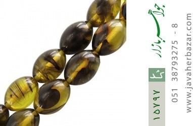 تسبیح کهربا پودری 33 دانه درشت و خاص - کد 15797