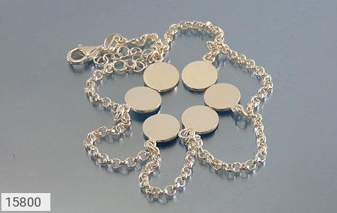 خلخال نقره پابند طرح سکه ای زنانه - تصویر 2