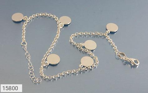 خلخال نقره پابند طرح سکه ای زنانه - عکس 3
