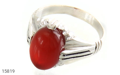 انگشتر عقیق قرمز مردانه - عکس 1