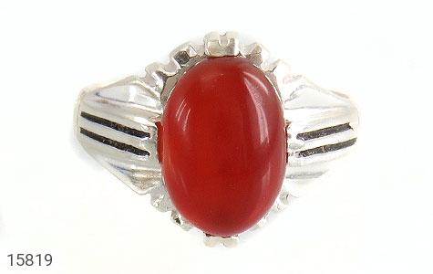انگشتر عقیق قرمز مردانه - تصویر 2