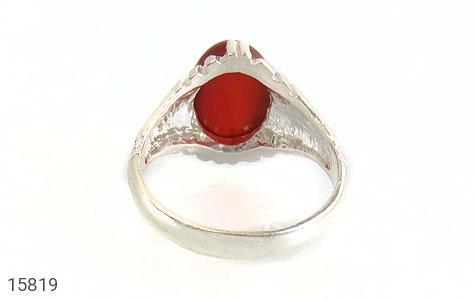 انگشتر عقیق قرمز مردانه - تصویر 4