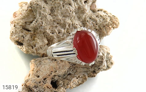 انگشتر عقیق قرمز مردانه - عکس 5