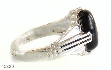 انگشتر عقیق سیاه جذاب مردانه - عکس 3