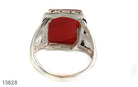 انگشتر عقیق قرمز درشت طرح رحیم مردانه - تصویر 4