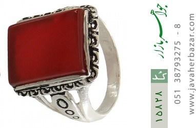 انگشتر عقیق قرمز درشت طرح رحیم مردانه - کد 15828