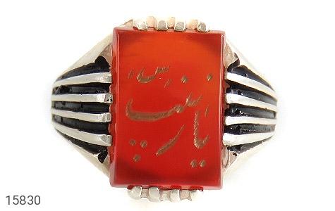 انگشتر عقیق حکاکی یا زینب - تصویر 2