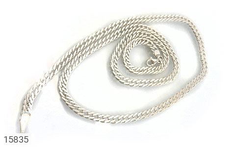 زنجیر نقره طرح بافت و جذاب - تصویر 2