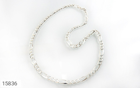 زنجیر نقره درشت اسپرت مردانه - عکس 1