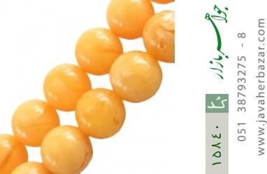 تسبیح کهربا پودری 33 دانه گرد درشت - کد 15840