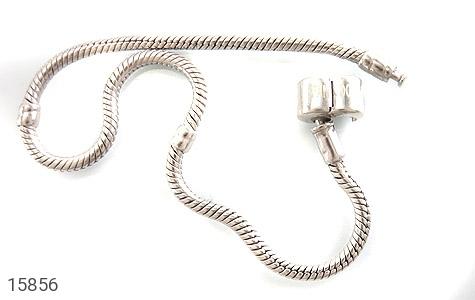 دستبند نقره طرح pandora مردانه - عکس 3