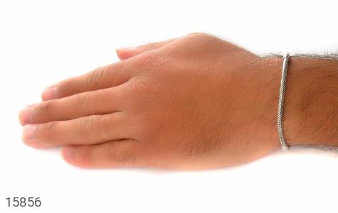 دستبند نقره طرح pandora مردانه - عکس 7