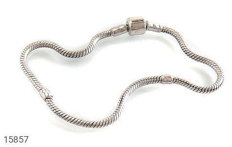 دستبند نقره طرح pandora مردانه - عکس 1