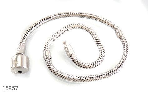 دستبند نقره طرح pandora مردانه - تصویر 2