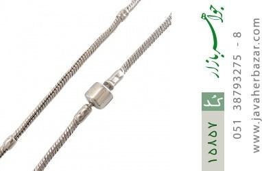 دستبند نقره طرح pandora مردانه - کد 15857