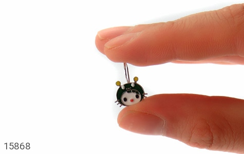 گوشواره نقره میناکاری عروسکی بچه گانه - تصویر 6