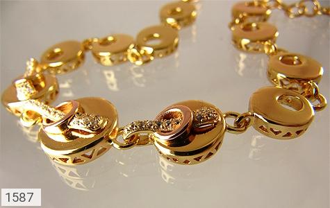 دستبند نقره آب رودیوم زرد زنانه - عکس 1