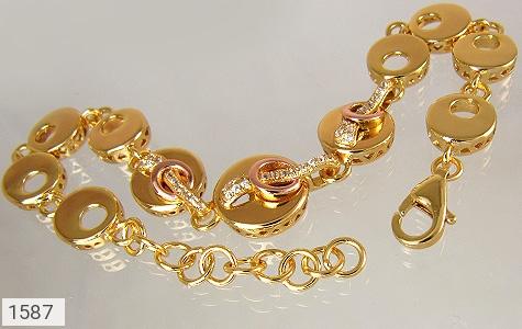 دستبند نقره آب رودیوم زرد زنانه - تصویر 2