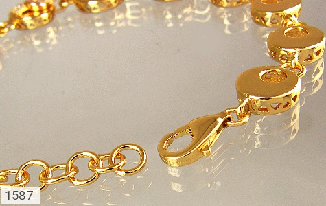 دستبند نقره آب رودیوم زرد زنانه - عکس 3