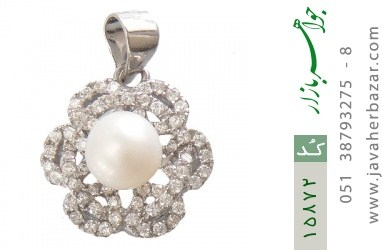 مدال مروارید طرح گل زنانه - کد 15872