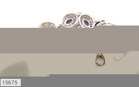 دستبند آمتیست پنج نگین ملکه زنانه - تصویر 2