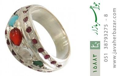 انگشتر چندنگین ارزشمند و زیبا - کد 15883