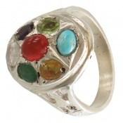 انگشتر چندنگین 7سنگ معدنی و ارزشمند