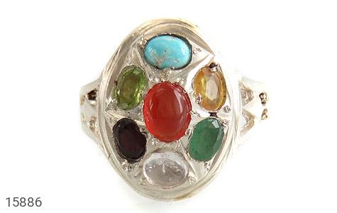 انگشتر چندنگین 7سنگ معدنی و ارزشمند - تصویر 2
