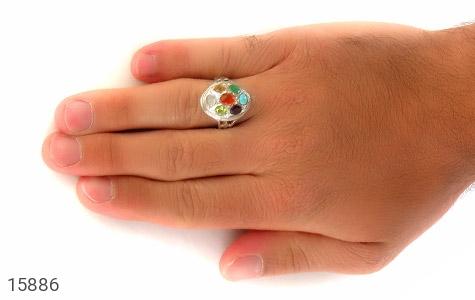 انگشتر چندنگین 7سنگ معدنی و ارزشمند - عکس 9