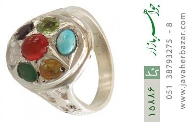 انگشتر چندنگین 7سنگ معدنی و ارزشمند - کد 15886