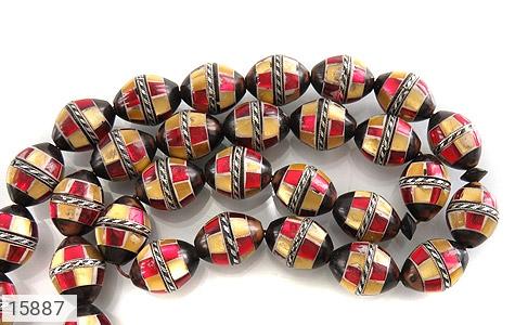 تسبیح کوک (کشکول) 33 دانه مرصع کاری - عکس 3