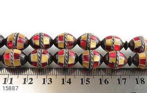 تسبیح کوک (کشکول) 33 دانه مرصع کاری - عکس 5