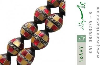 تسبیح کوک (کشکول) 33 دانه مرصع کاری - کد 15887