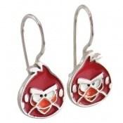 گوشواره نقره میناکاری Angry Birds بچه گانه