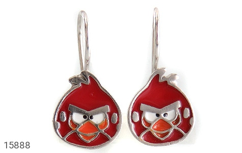 گوشواره نقره میناکاری Angry Birds بچه گانه - تصویر 2