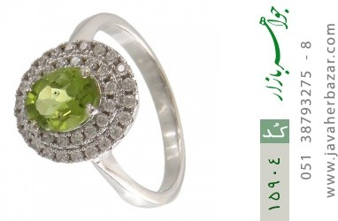 انگشتر زبرجد طرح بیتا زنانه - کد 15904