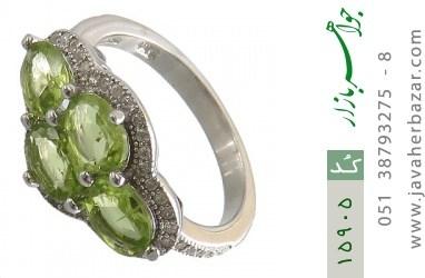 انگشتر زبرجد طرح گلشیفته زنانه - کد 15905