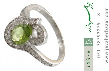 انگشتر زبرجد طرح ملوس زنانه - کد 15908
