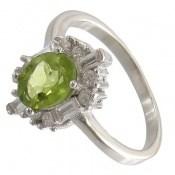 انگشتر زبرجد الماس نشان زنانه