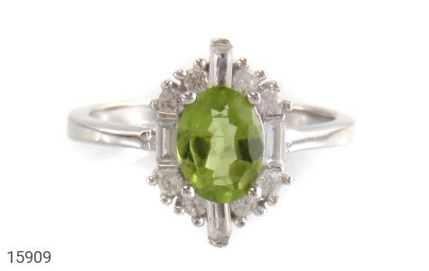 انگشتر زبرجد الماس نشان زنانه - تصویر 2