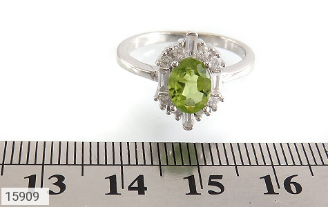انگشتر زبرجد الماس نشان زنانه - تصویر 6