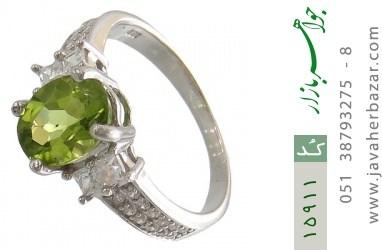 انگشتر زبرجد طرح پرنسس زنانه - کد 15911