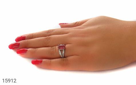 انگشتر یاقوت سرخ طرح ارمغان زنانه - عکس 7