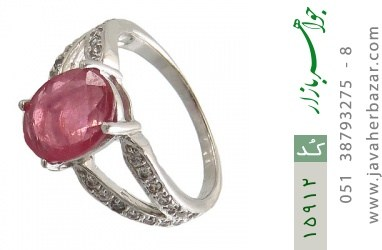 انگشتر یاقوت سرخ طرح ارمغان زنانه - کد 15912