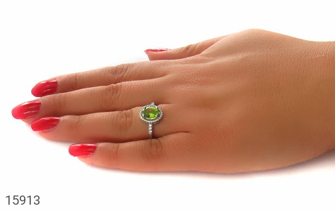 انگشتر زبرجد طرح بهناز زنانه - عکس 7
