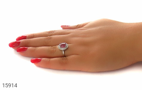 انگشتر یاقوت سرخ طرح مهناز زنانه - عکس 7